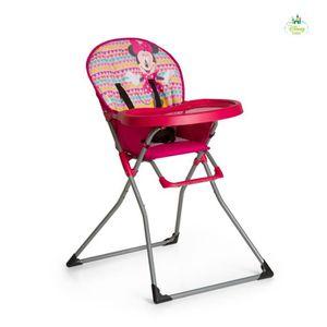 CHAISE HAUTE  MINNIE Chaise haute Mac Baby Geo pink - Disney Bab