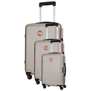BAGSTONE Valise Cabine Rigide Goldy - 4 Roues - Beige