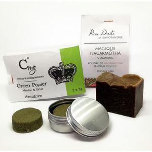 DENTIFRICE Dentifrice Solide Menthe et Shampoing Cheveux Gras
