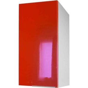 ÉLÉMENTS HAUT Meuble de cuisine haut 1 porte - 30cm - Rouge - Él