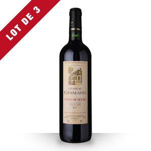 VIN ROUGE 3X Château Grimard 2013 Rouge 75cl AOC Côtes de Bo
