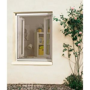 MOUSTIQUAIRE OUVERTURE Moustiquaire Enrouleur PVC Recoupable pour Fenêtre