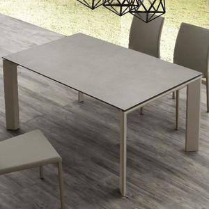 TABLE À MANGER SEULE Table de 4 à 10 personnes en céramique effet béton