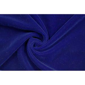 TISSU Tissu Velours Velvet Uni Bleu roi -Au Mètre