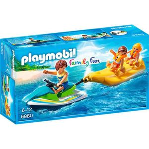FIGURINE - PERSONNAGE PLAYMOBIL 6980 - Summer Fun - Vacanciers avec Jet
