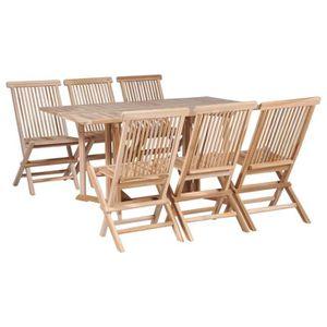 Salon de jardin bois pliable