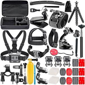 PACK CHAMBRE NOIRE 50-en-1 Action Caméra Kit d'Accessoires pour GoPro