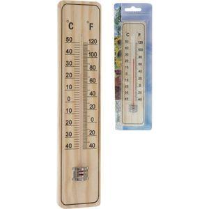 THERMOMÈTRE - BAROMÈTRE Thermomètre extérieur en bois  - 22,5x5x0,8 cm