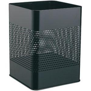 design moderne chambre à coucher bureau Osco métallique carré waste paper bin noir maison
