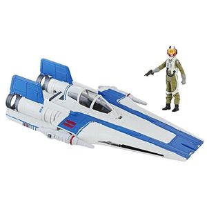 FIGURINE - PERSONNAGE Star Wars Episode VIII - Véhicule A-Wing Fighter +
