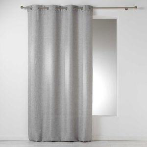 RIDEAU CDaffaires Rideau a oeillets 140 x 280 cm chambray