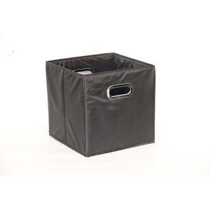 CASIER POUR MEUBLE Cube rangement medium noir