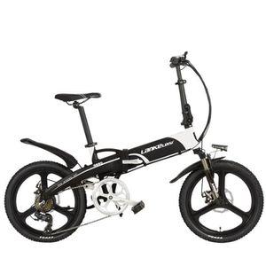 VÉLO PLIANT Vélo électrique à 7 vitesses, portable 20 pouces 2
