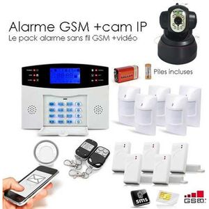 KIT ALARME Alarme GSM, 99 zones XXL et camera IP