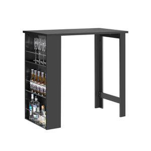 MANGE-DEBOUT SoBuy® FWT17-Sch Table Haute Table de Bar Mange-de
