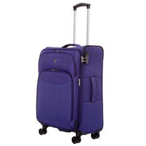 VALISE - BAGAGE Valise cabine souple 8 roulettes Verage Violet