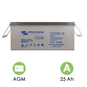BATTERIE MACHINE OUTIL Batterie agm 12v/25ah super cycle - victron energy