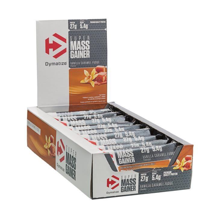 DYMATIZE Lot de 10 barres Super Mass Gainer - Vanille caramel - 90 g