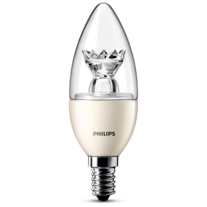 philips ampoule flamme led 40w e14 dimmable achat vente ampoule led cdiscount. Black Bedroom Furniture Sets. Home Design Ideas