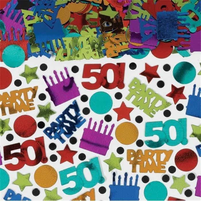 Confettis de table Anniversaire 50 Ans (70g)