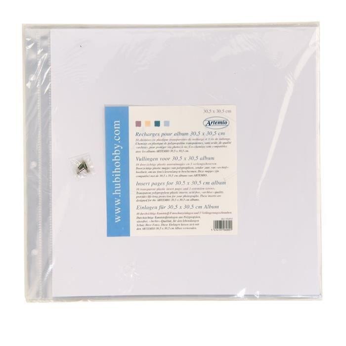ARTEMIO 10 Pochettes Plastiques pour Album