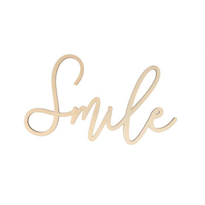 Mot -Smile- en bois 'Artemio' 30 x 16.5 x 0.5 cm