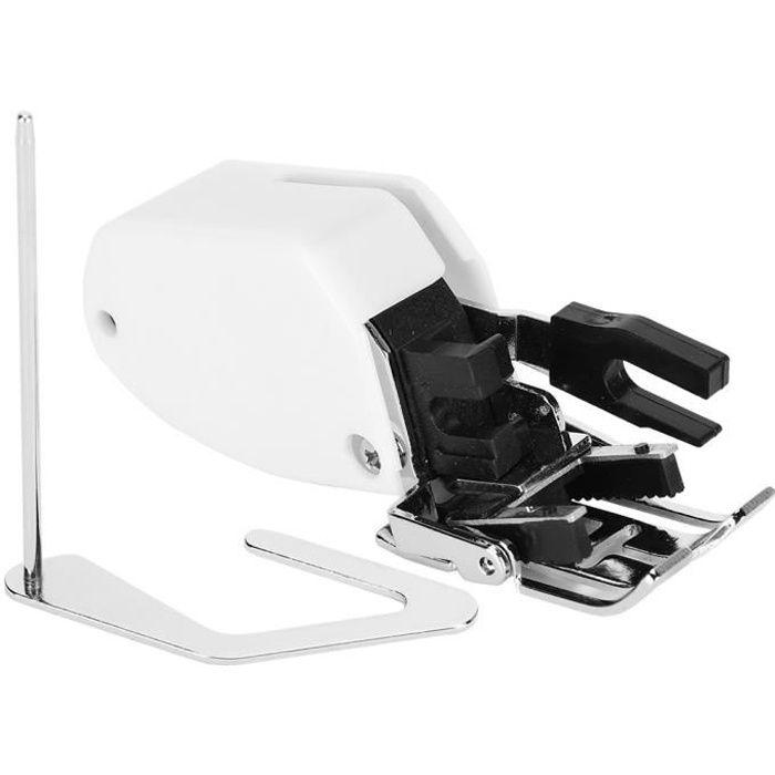 Multifonctionnelle Accessoires de couture de pied presseur de surjet de coupeur de côté de machine à coudre de ménage
