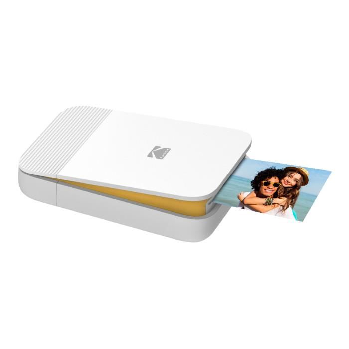 KODAK SMILE Printer - Imprimante Photo Bluetooth Compacte - Blanc/Jaune