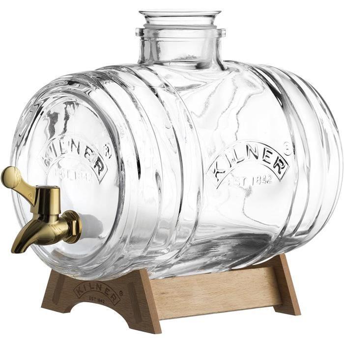 Distributeur de boisson 8 litres en verre pour servir tous type de boisson 24 x 12 x 25 cm