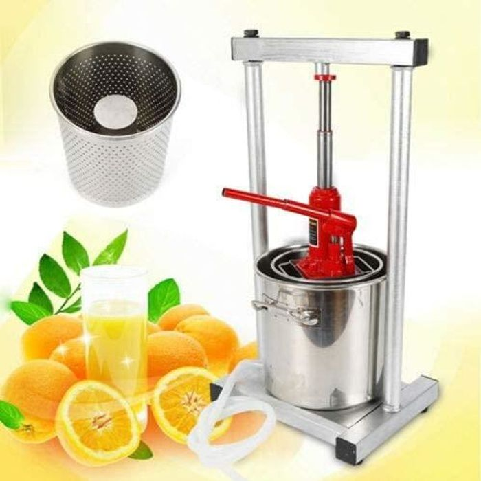 Pressoir à vin de 12 litres-pressoir presse-fruits hydraulique / raisin / pomme / cidre