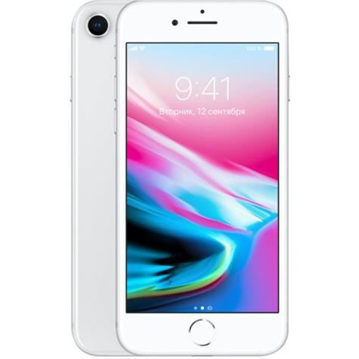 APPLE Iphone 8 64Go Argent - Reconditionn  - Excellent  tat