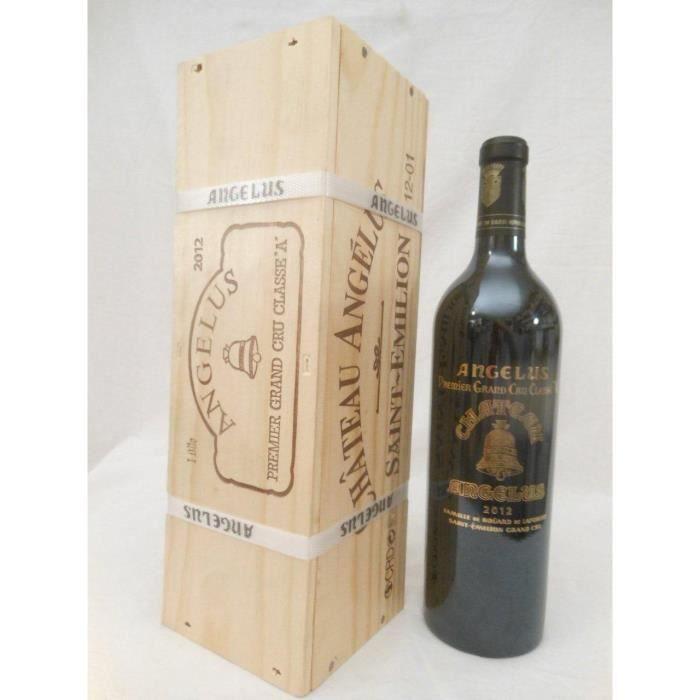 caisse une bouteille saint-émilion château angélus grand cru classé A rouge 2012 - bordeaux france