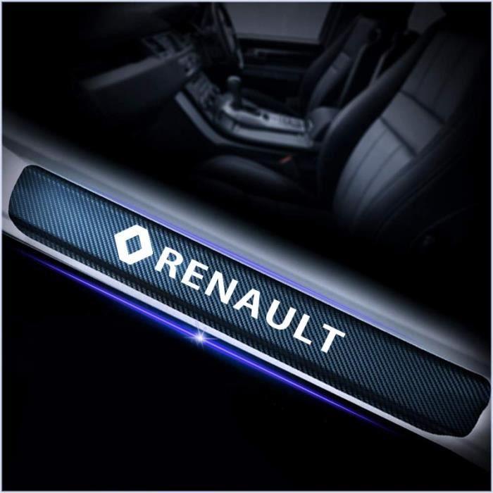 Autocollants de seuil de porte pour Renault - En Fiber de carbone, accessoires de voiture pou - Modèle: Silver white - ANQCCTA02668