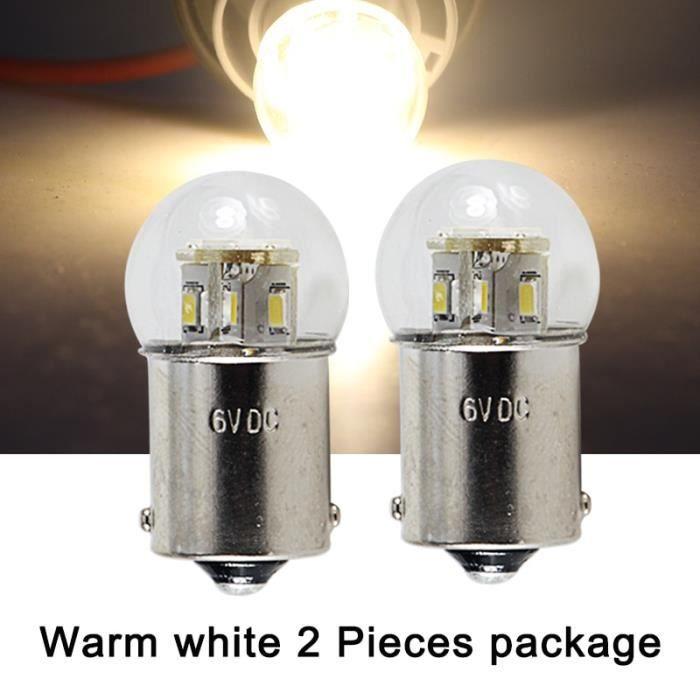 BA15S 3000K 6v -Clignotant LED S25 P21W BA15S 1156 1157 BAY15D BA15D Dc 6v 12v 24v 36v 48v, 2 pièces, feu de recul pour voiture