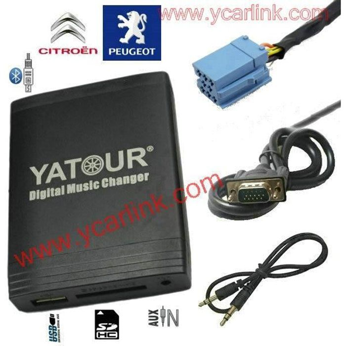 Yatour changeur de musique DMC USB SD MP3 AUX interface Bluetooth) pour RD3 Peugeot citroën RB2 RM2 Van bus