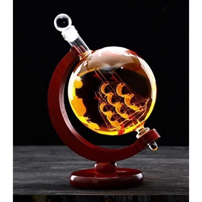 Deacutecanteur de vin de verre de cracircne et verres de vin Cristal verre vide bouteille vin bouteille deacutecoration de vin bo