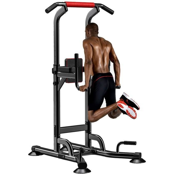 DIP STATION uteglable Barre de TractionPull Bar Chaise Romaine Multifonction Power Tower Dip Station Tour de Musculation Charge 1130