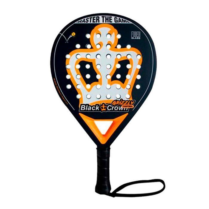 Black Crown - Raquette de Padel Grizzly Control 2021 pour les Joueurs Professionnels Avancés, en Forme de Goutte d'eau