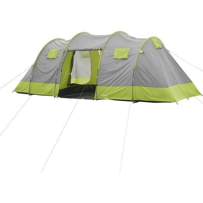 Tente de camping tunnel 8 places SURPASS SURPTENT801 Vert et Gris