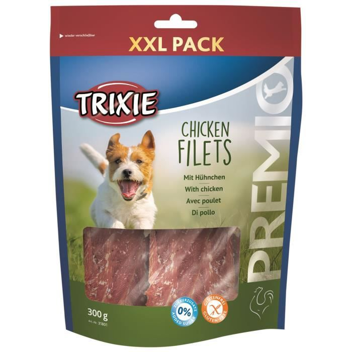 TRIXIE Chicken Filets Premio XXL Pack - Pour chien - 300g