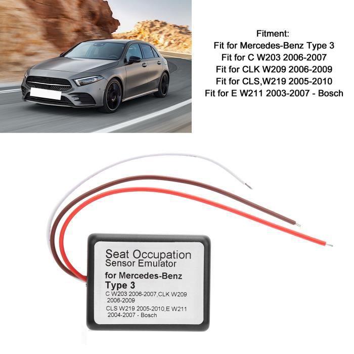 VBESTLIFE émulateur pour Mercedes-Benz de capteur d'occupation de siège adapté à l'accessoire de pièces de voiture Type 3