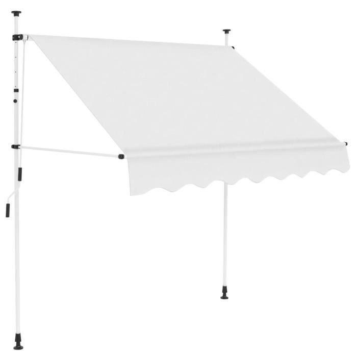 vidaXL Auvent manuel rétractable 200 cm Crème-LAT