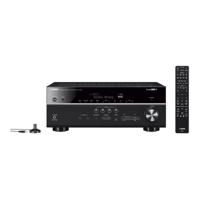 YAMAHA MusicCast RX-V 685 Ti Ampli-tuner Home-Cinéma 7.2 - 7 x 80 W - Wi-Fi - Airplay2 - Bluetooth - 5 entrées HDMI et 2 sorties -