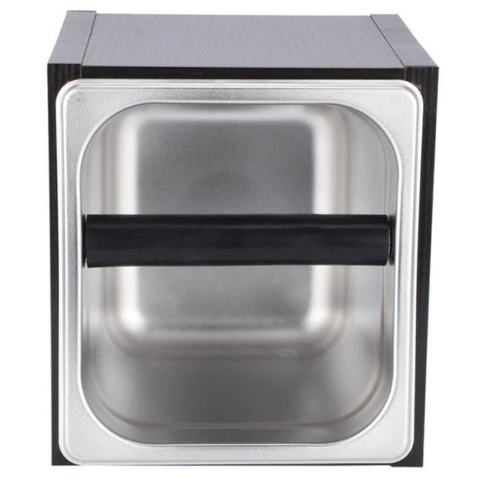 GA39174 Boîte à café moulu Boîte à déchets en acier inoxydable pour bac à café en acier inoxydable pour café à domicile