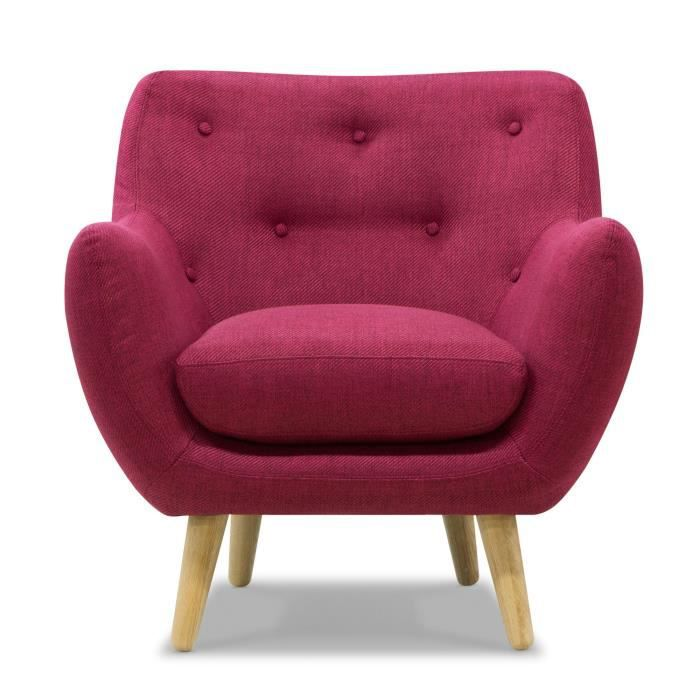 poppy meuble fauteuil esprit seventies framboise achat vente fauteuil cdiscount. Black Bedroom Furniture Sets. Home Design Ideas