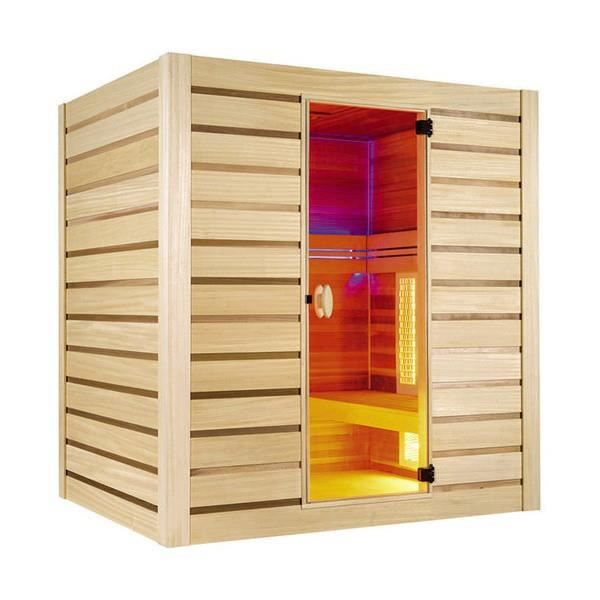 Sauna infrarouge hybride pure quartz 4 places achat vente kit sauna sauna - Sauna infrarouge prix ...
