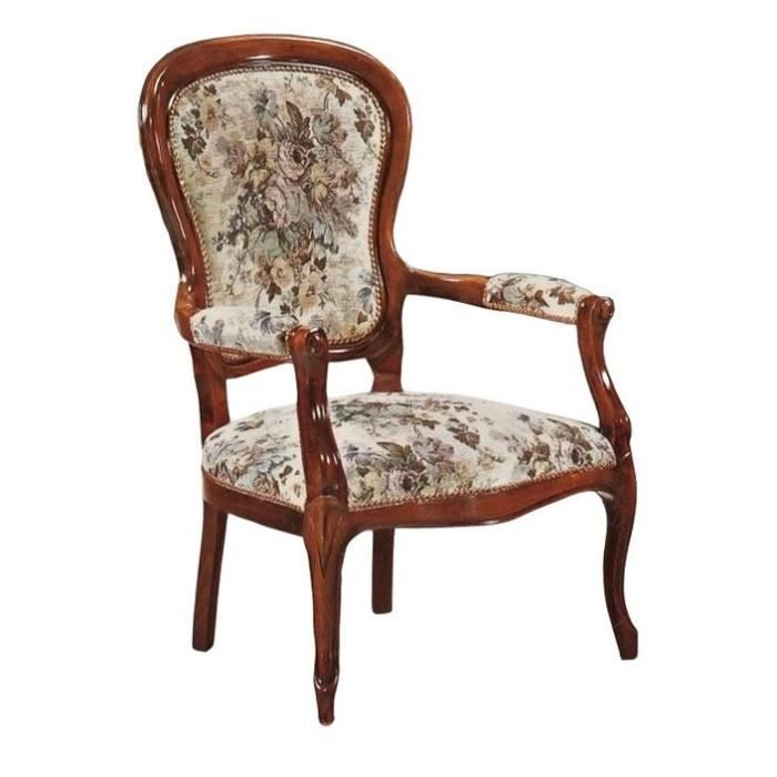 fauteuil louis philippe achat vente fauteuil french days d s le 27 avril cdiscount. Black Bedroom Furniture Sets. Home Design Ideas