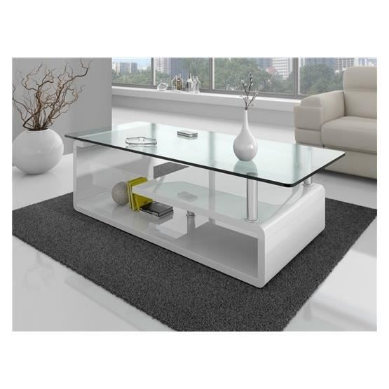 Table basse design jorn blanc achat vente table basse table basse design - Table basse blanc design ...