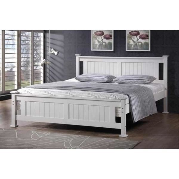 lit 2 places en bois blanc batna achat vente structure de lit lit 2 places en bois blanc. Black Bedroom Furniture Sets. Home Design Ideas
