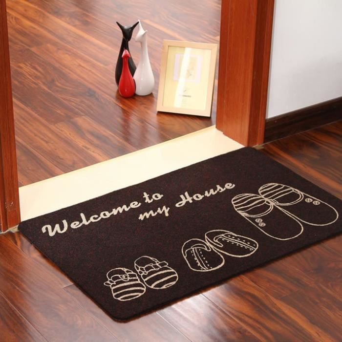 naturel grand antid rapant sol welcome tapis de porte d 39 entr e tapis int rieur ext rieur 40 x 60. Black Bedroom Furniture Sets. Home Design Ideas